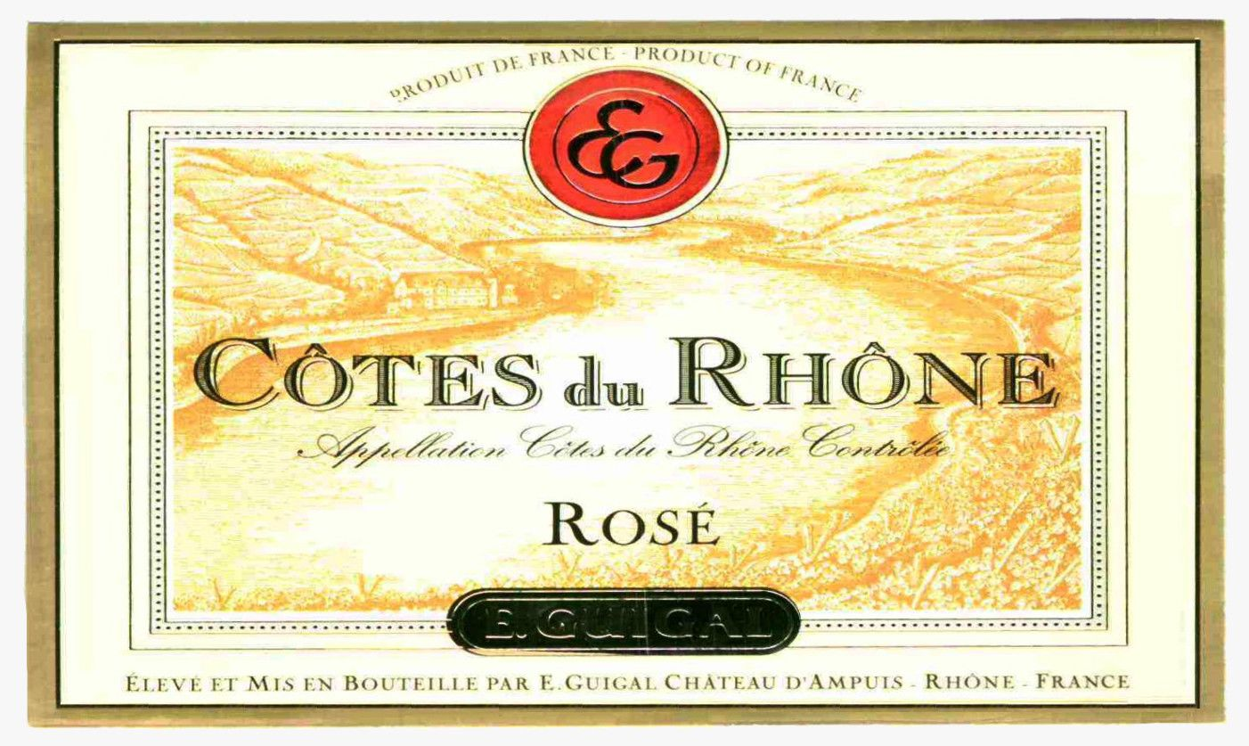 Guigal Cotes du Rhone Rose 2019  Front Label