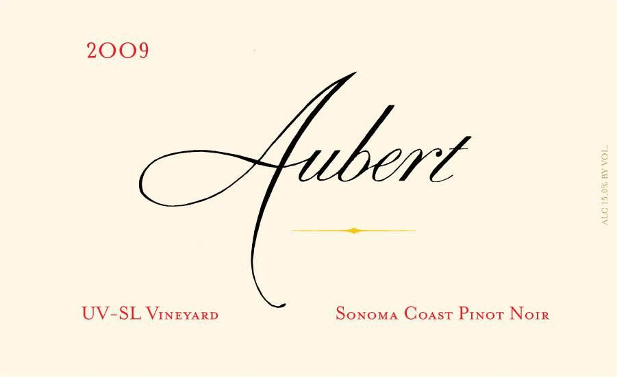 Aubert UV-SL Vineyard Pinot Noir 2009  Front Label