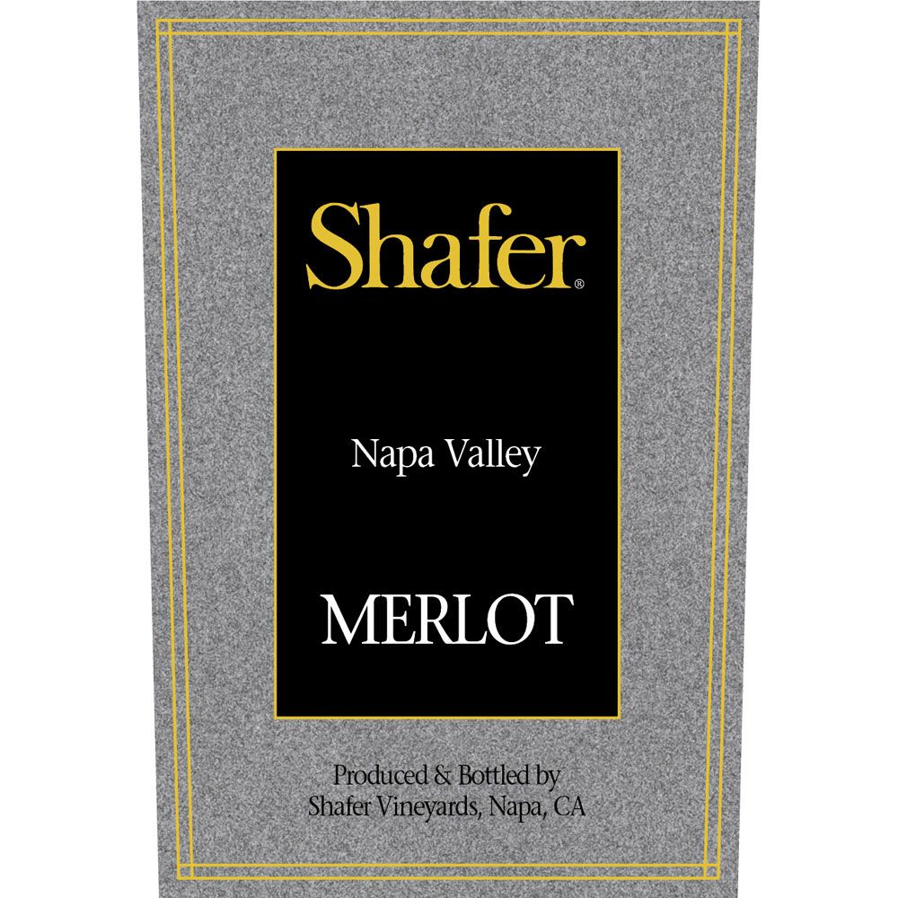 Shafer Napa Valley Merlot 2004 Front Label