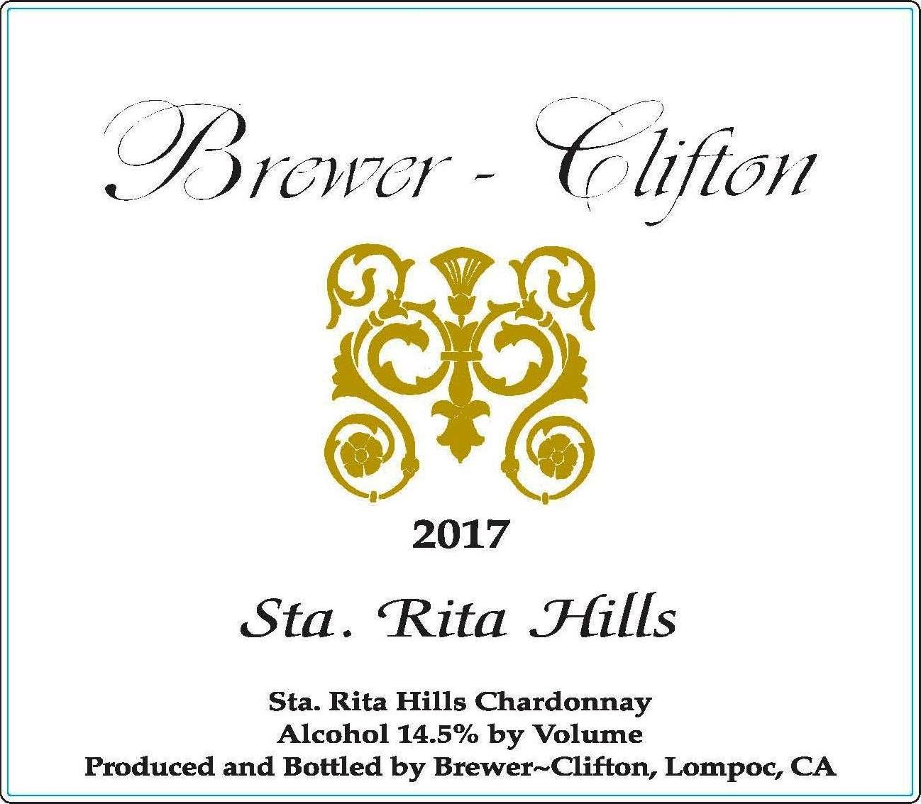 Brewer-Clifton Sta. Rita Hills Chardonnay 2017  Front Label
