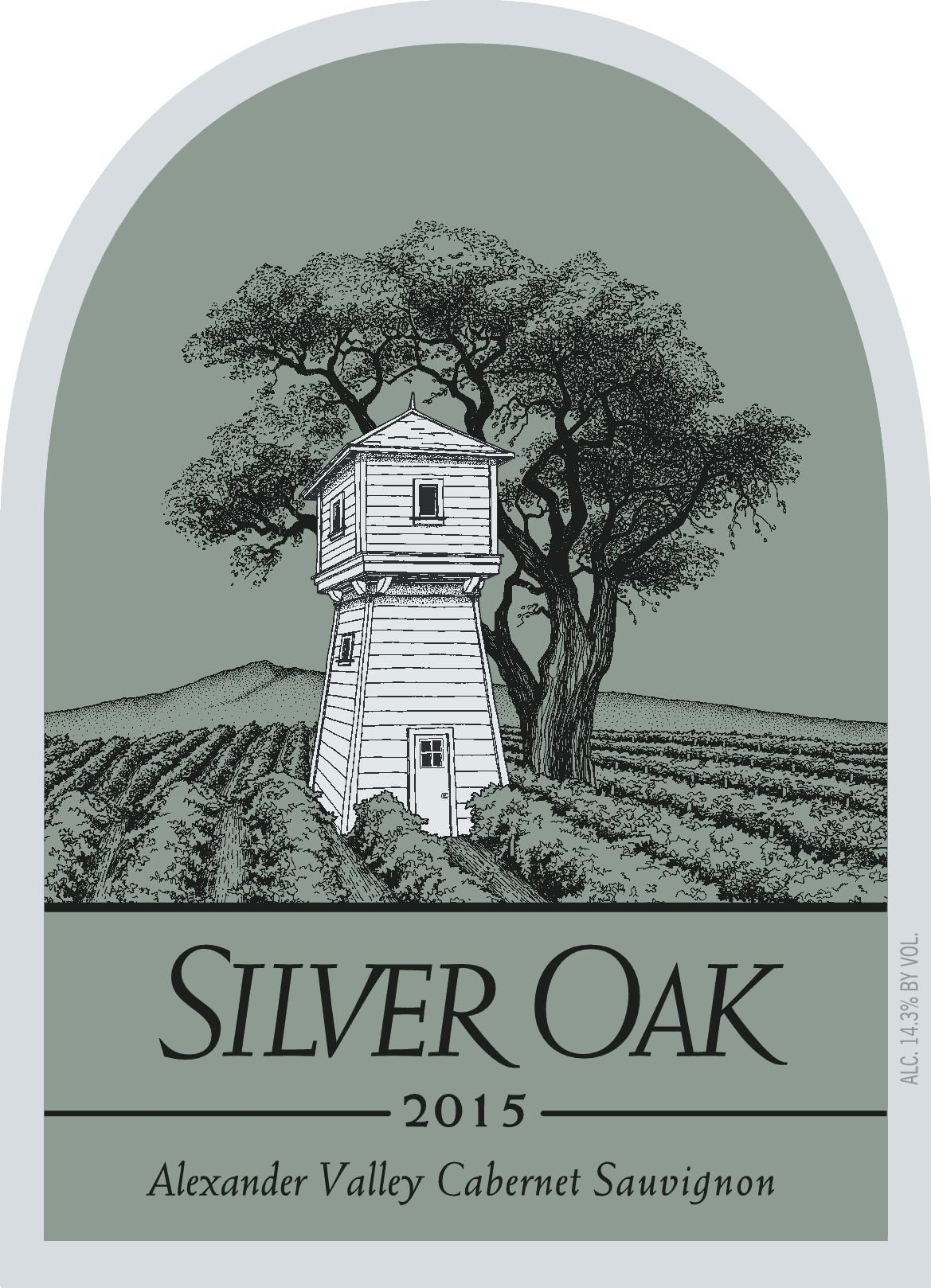Silver Oak Alexander Valley Cabernet Sauvignon (3 Liter Bottle) 2015  Front Label
