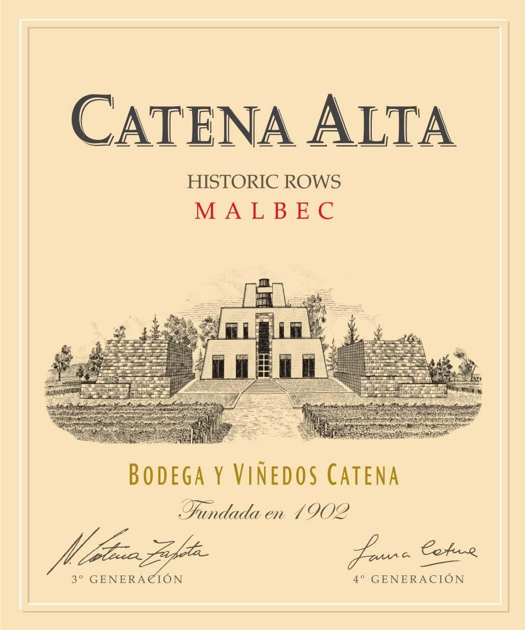 Catena Alta Malbec 2016  Front Label