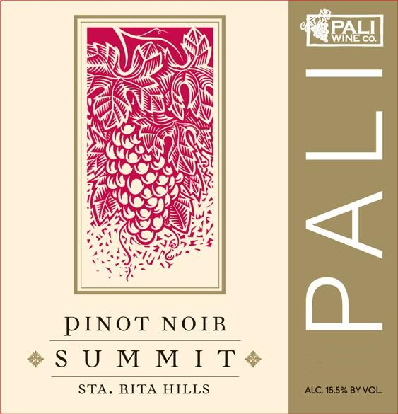 Pali Wine Co Summit Pinot Noir 2016  Front Label
