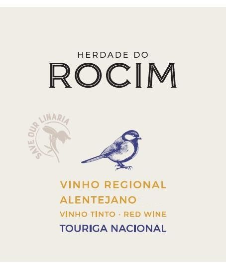 Herdade do Rocim Touriga Nacional 2018  Front Label