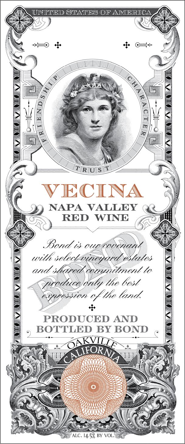 Bond Vecina 2010  Front Label