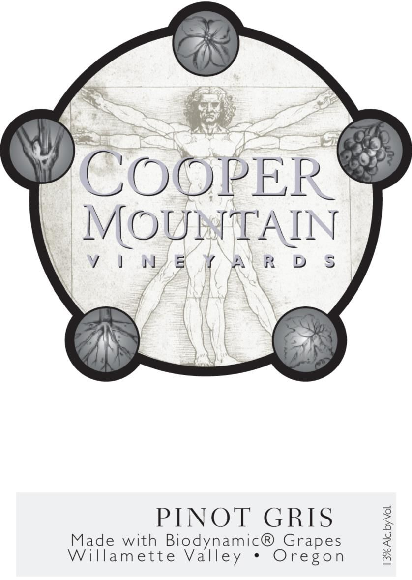 Cooper Mountain Pinot Gris 2019  Front Label