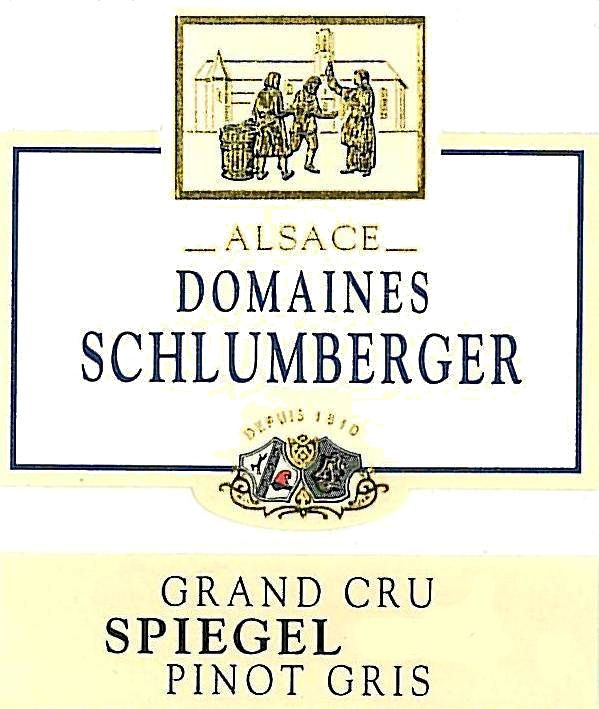 Domaines Schlumberger Spiegel Grand Cru Pinot Gris 2017  Front Label