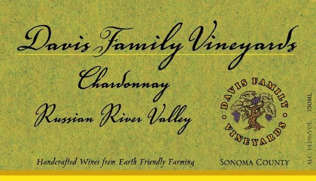 Davis Family Vineyards Chardonnay 2018  Front Label