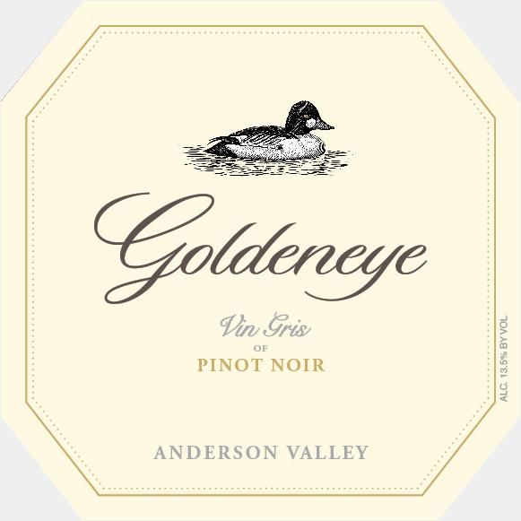 Goldeneye Vin Gris of Pinot Noir 2018 Front Label