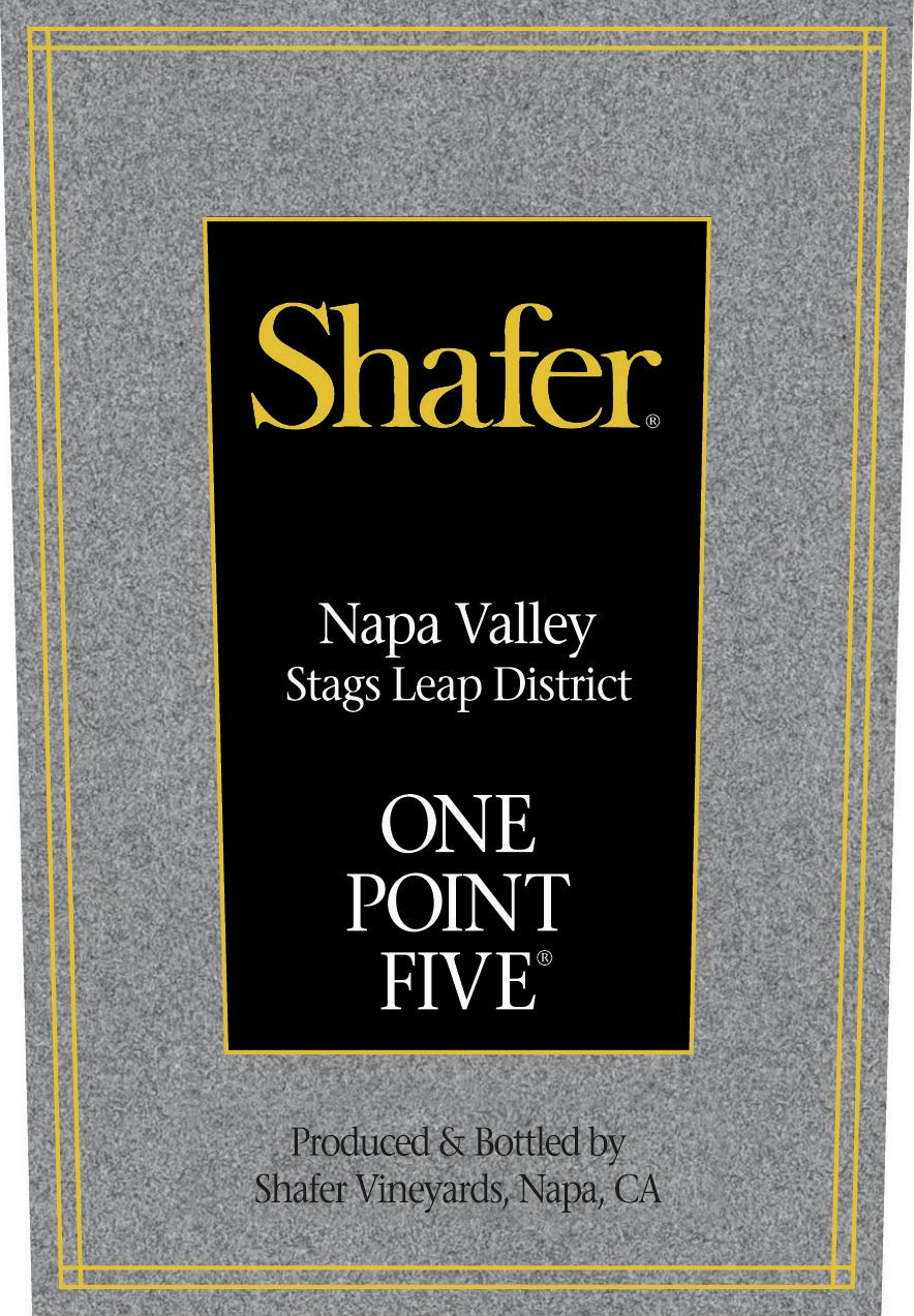 Shafer One Point Five Cabernet Sauvignon 2018  Front Label