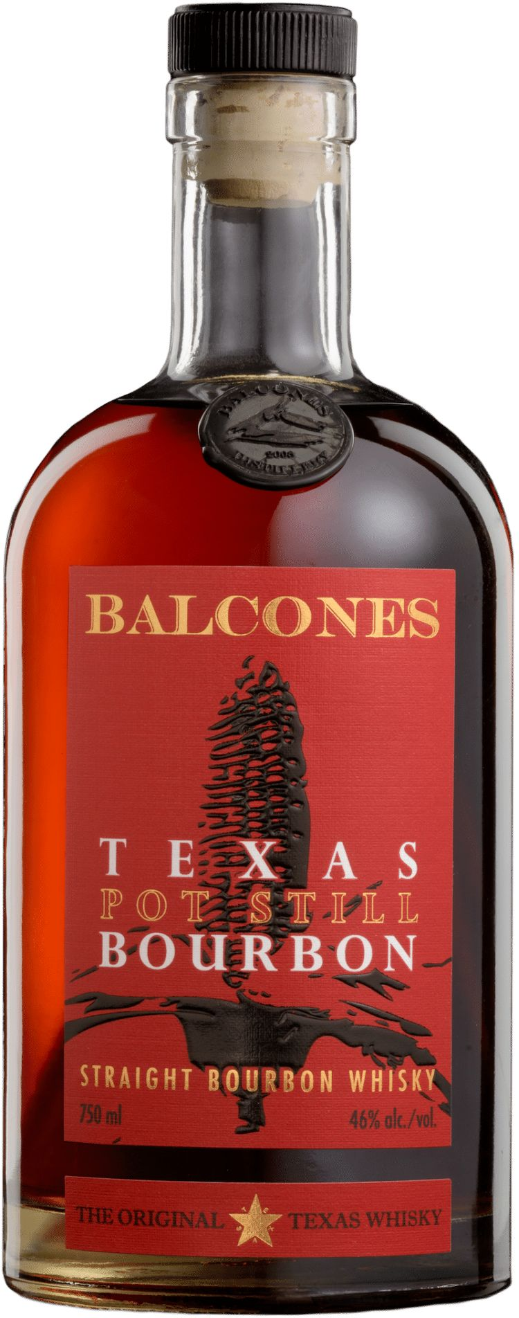 Balcones Pot Still Straight Bourbon Whisky Front Bottle Shot