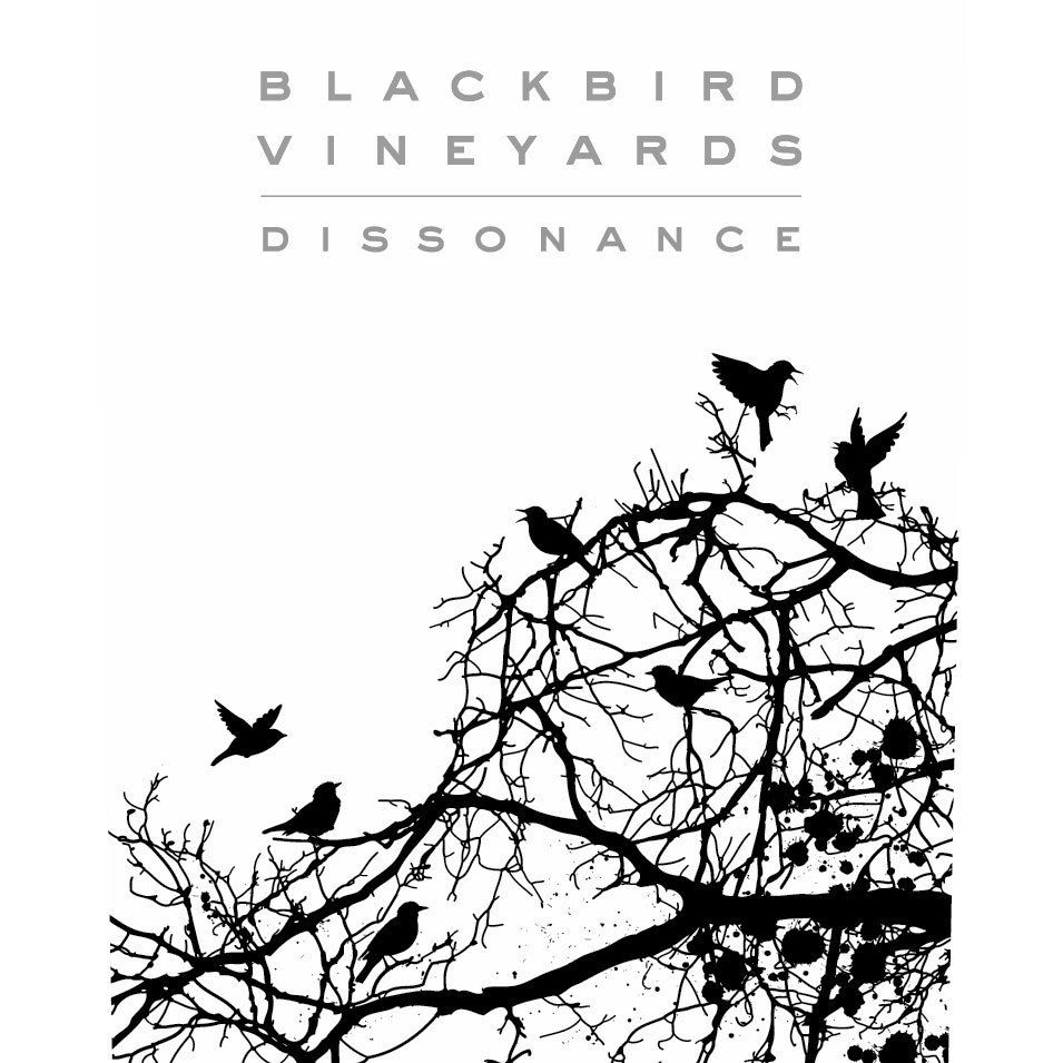 Blackbird Vineyards Dissonance 2018  Front Label