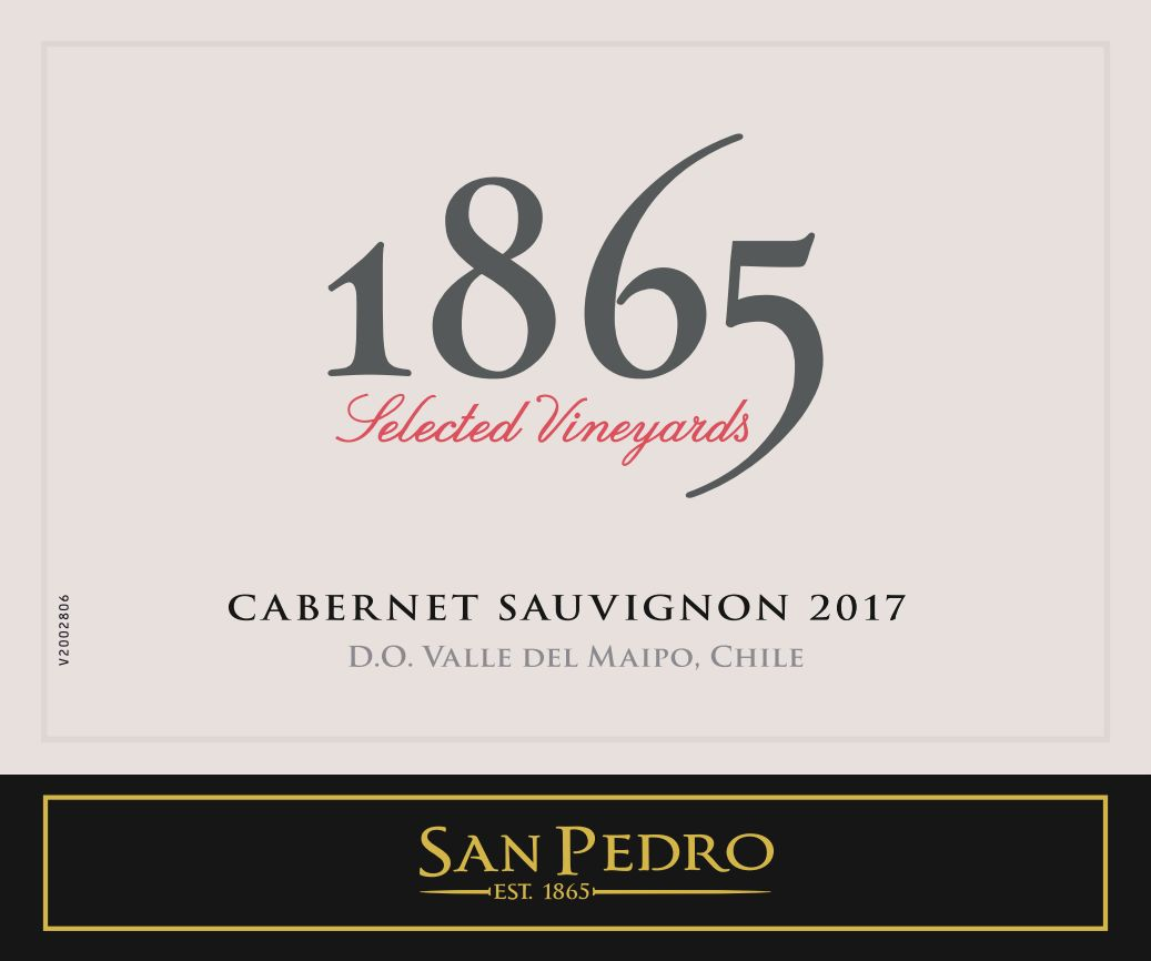 1865 Selected Vineyards Cabernet Sauvignon 2017  Front Label