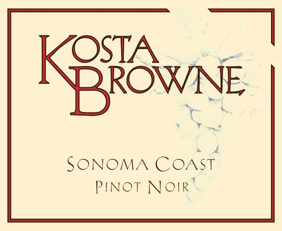 Kosta Browne Sonoma Coast Pinot Noir (375ML half-bottle) 2016  Front Label