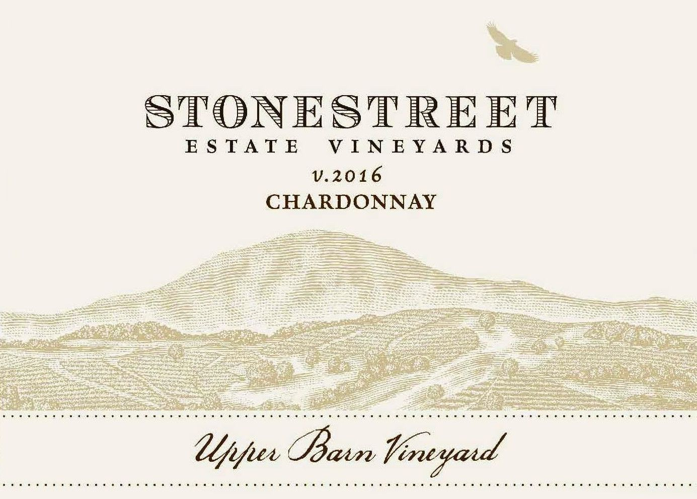 Stonestreet Upper Barn Vineyard Chardonnay 2016 Front Label