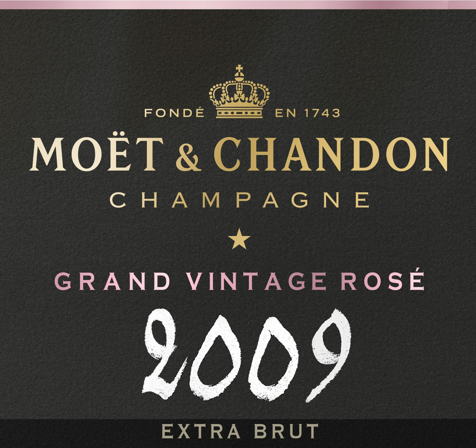 Moet & Chandon Grand Vintage Brut Rose 2009  Front Label