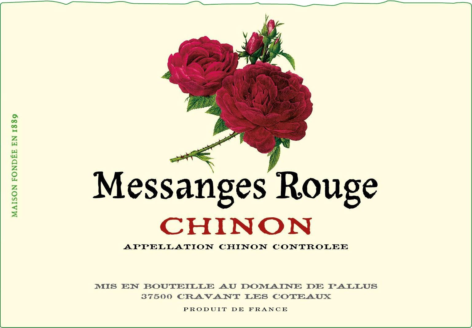 Domaine de Pallus Messanges Rouge Chinon 2018  Front Label