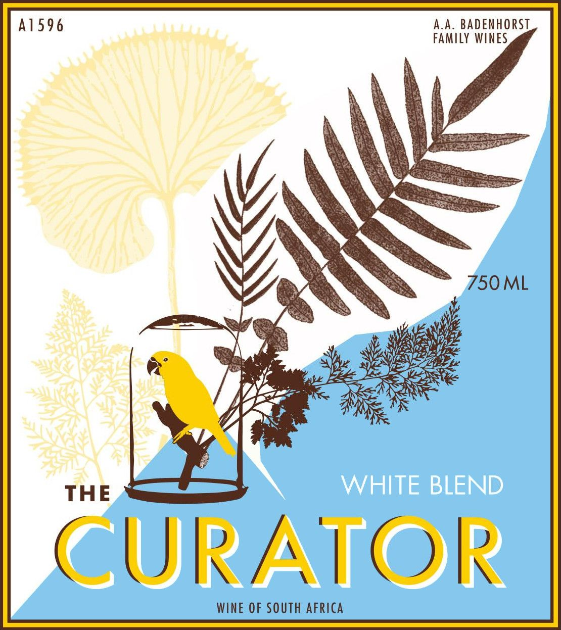 Badenhorst Curator White Blend 2019  Front Label