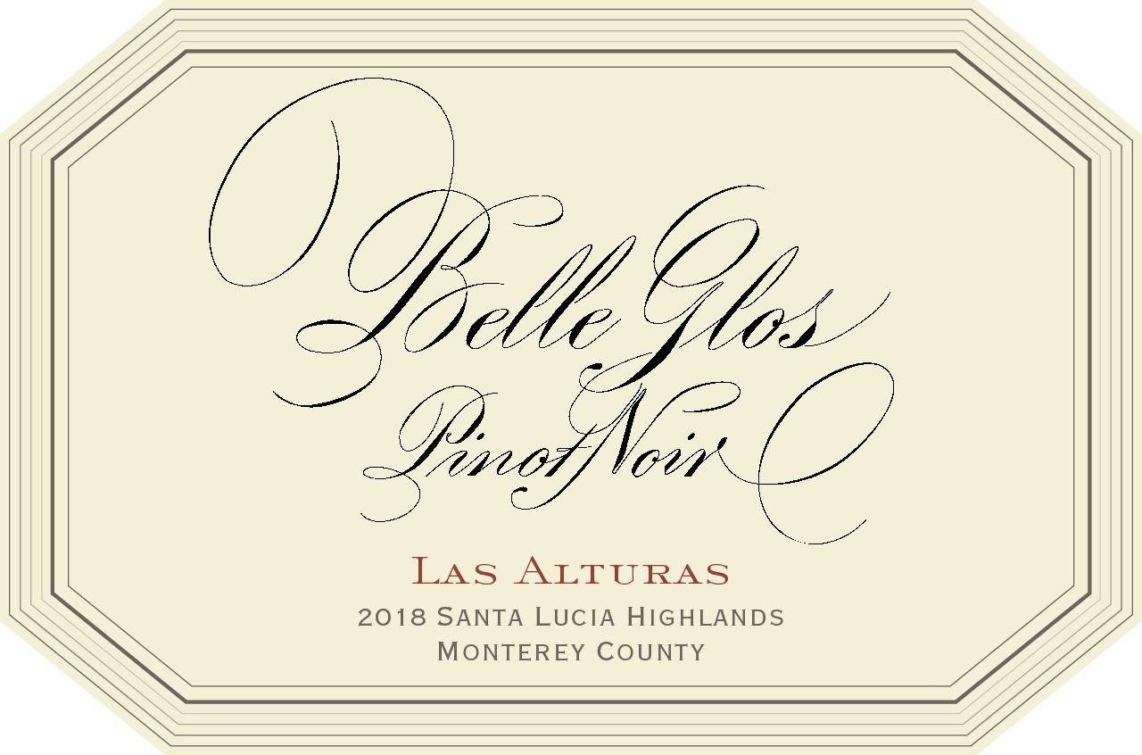 Belle Glos Las Alturas Vineyard Pinot Noir 2018  Front Label
