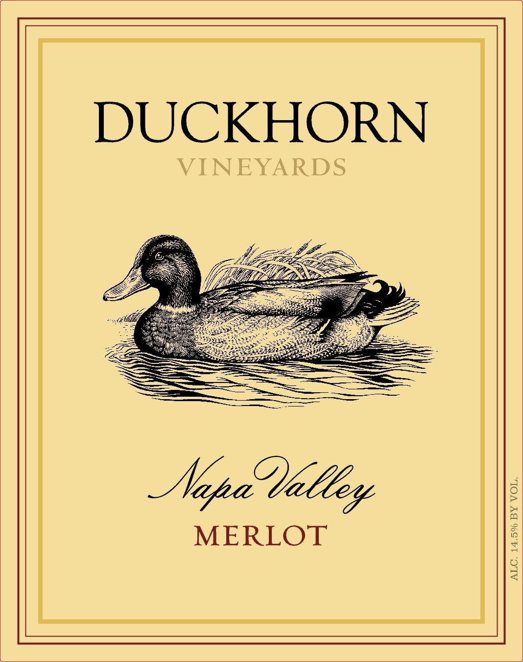 Duckhorn Napa Valley Merlot 2016 Front Label