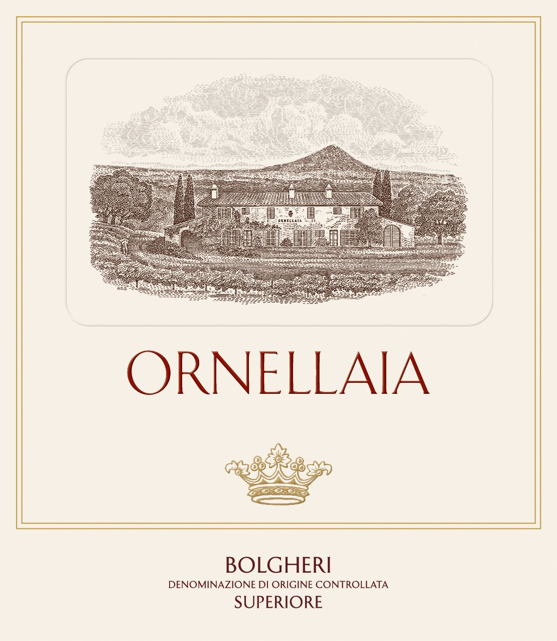 Ornellaia  2016  Front Label