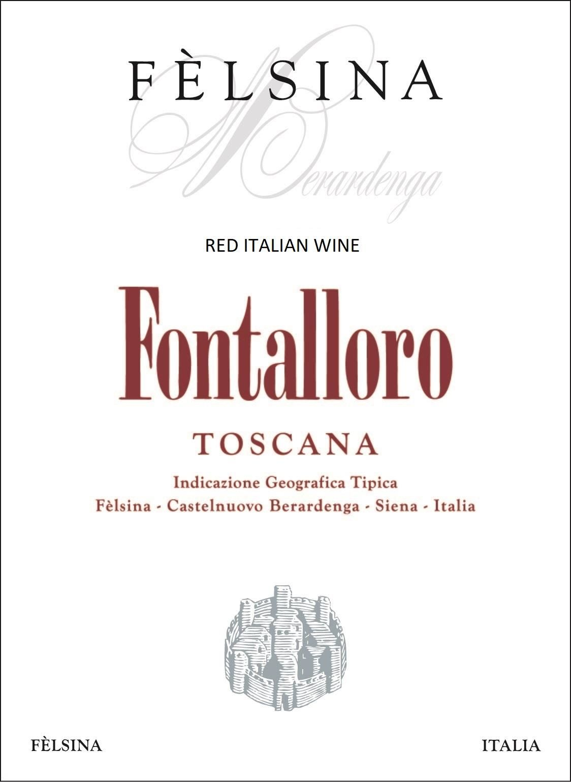 Felsina Fontalloro (375ML half-bottle) 2016  Front Label