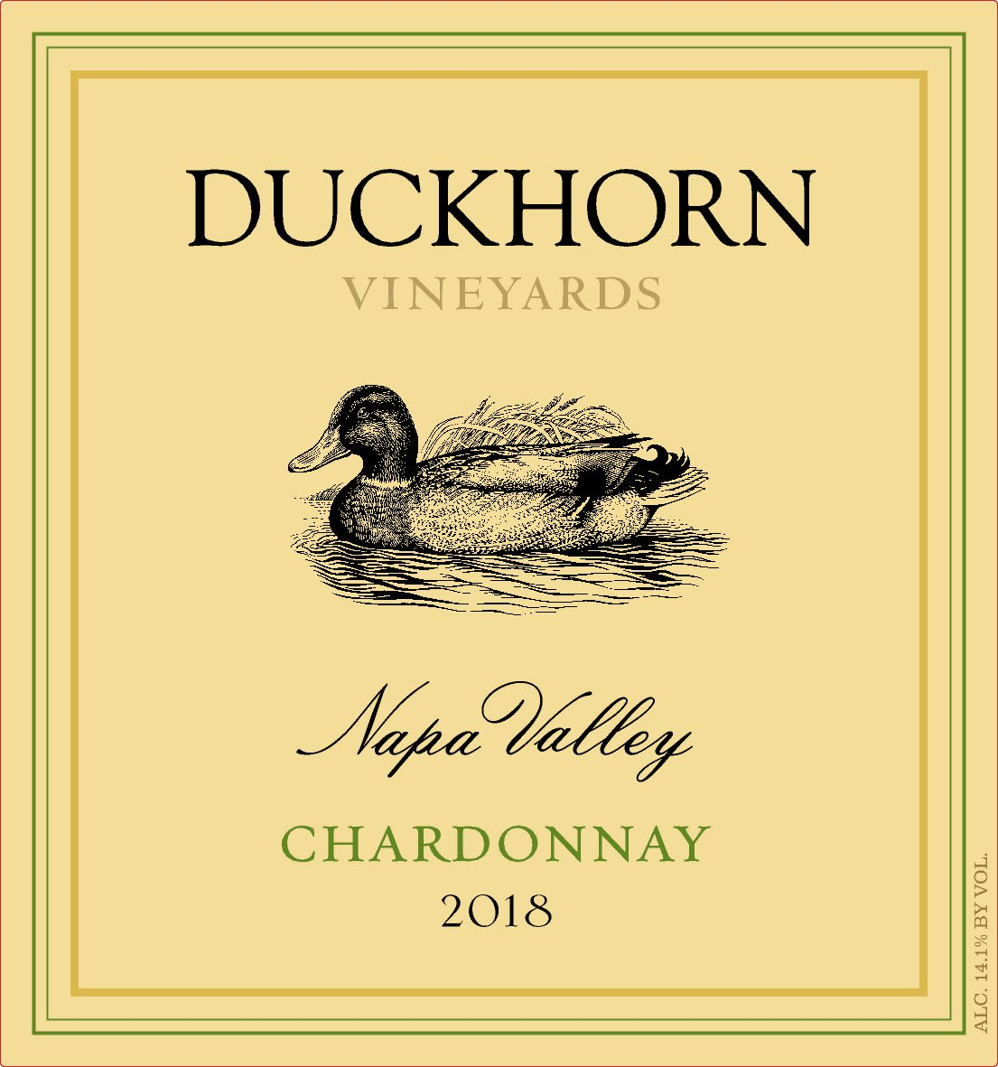 Duckhorn Napa Valley Chardonnay 2018  Front Label
