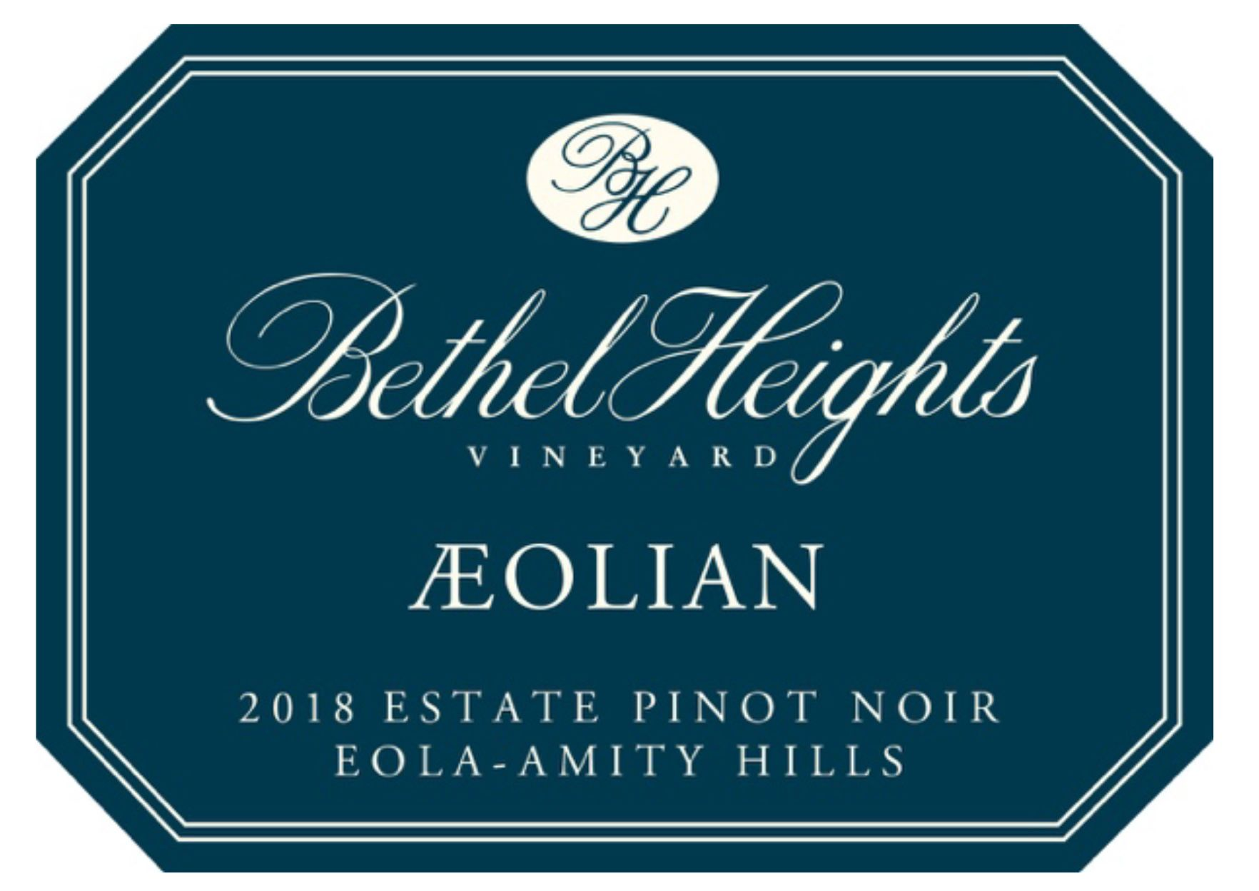Bethel Heights Aeolian Pinot Noir 2018  Front Label
