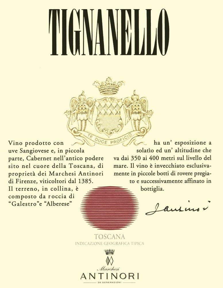 Antinori Tignanello (375ML half-bottle) 2017  Front Label