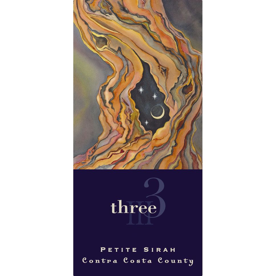 Three Wine Company Petite Sirah 2016  Front Label