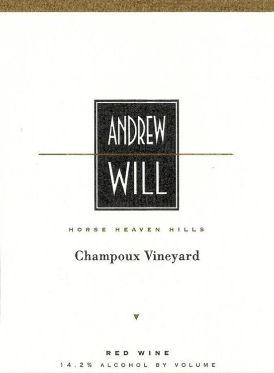 Andrew Will Winery Champoux Vineyard Horse Heaven Hills 2007  Front Label