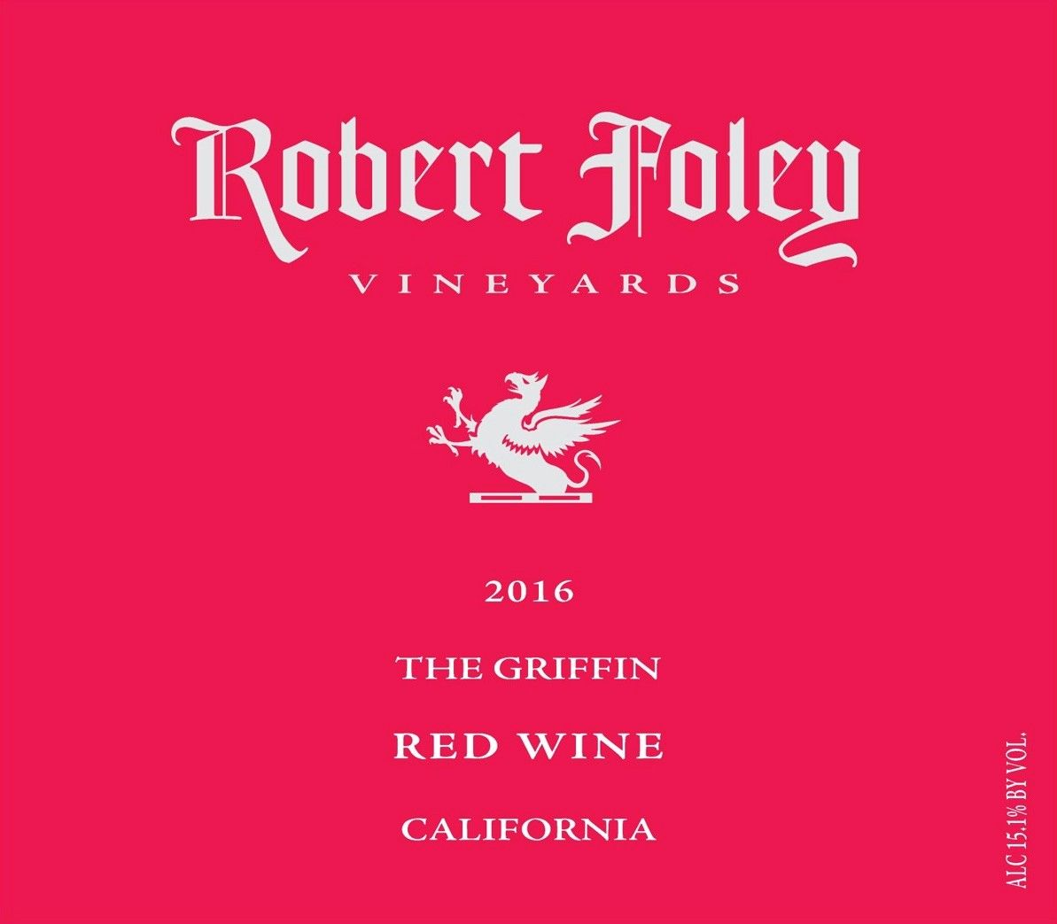 Robert Foley Vineyards The Griffin 2016  Front Label