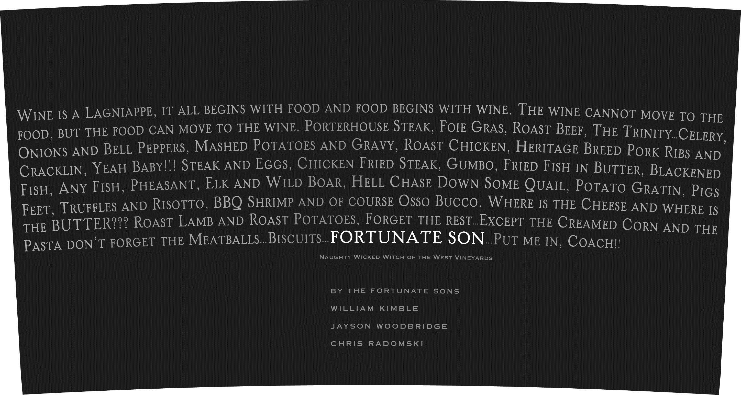 Hundred Acre Fortunate Son Cabernet Sauvignon 2008  Front Label