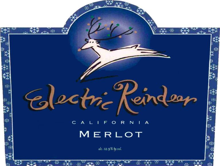 Electric Reindeer Merlot Front Label
