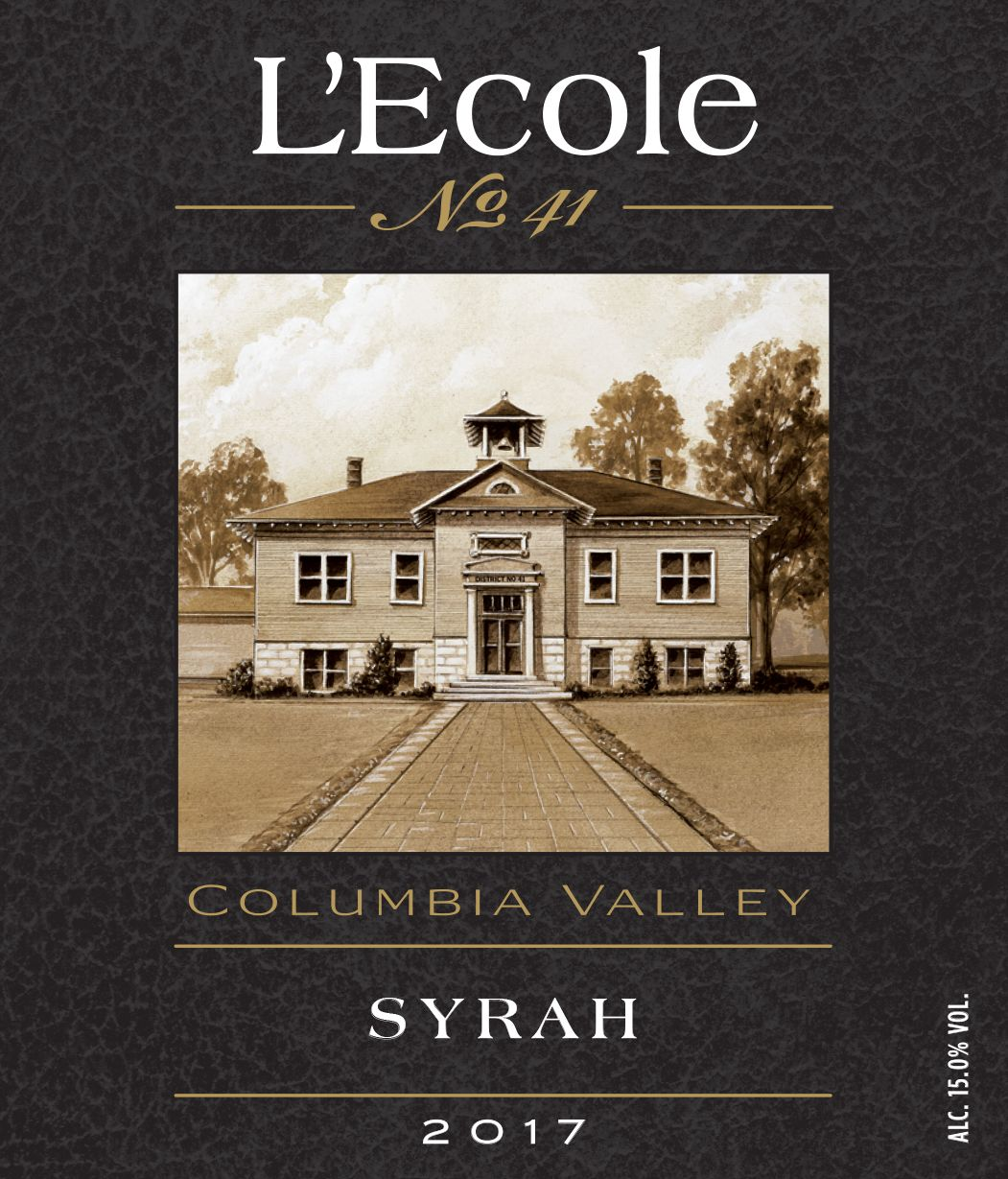 L'Ecole 41 Columbia Valley Syrah 2017  Front Label