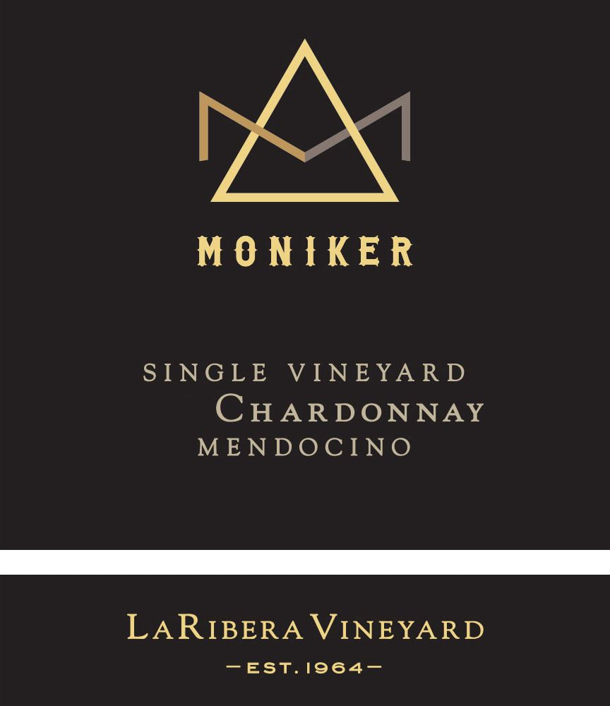 Moniker La Ribera Single Vineyard Chardonnay 2018  Front Label