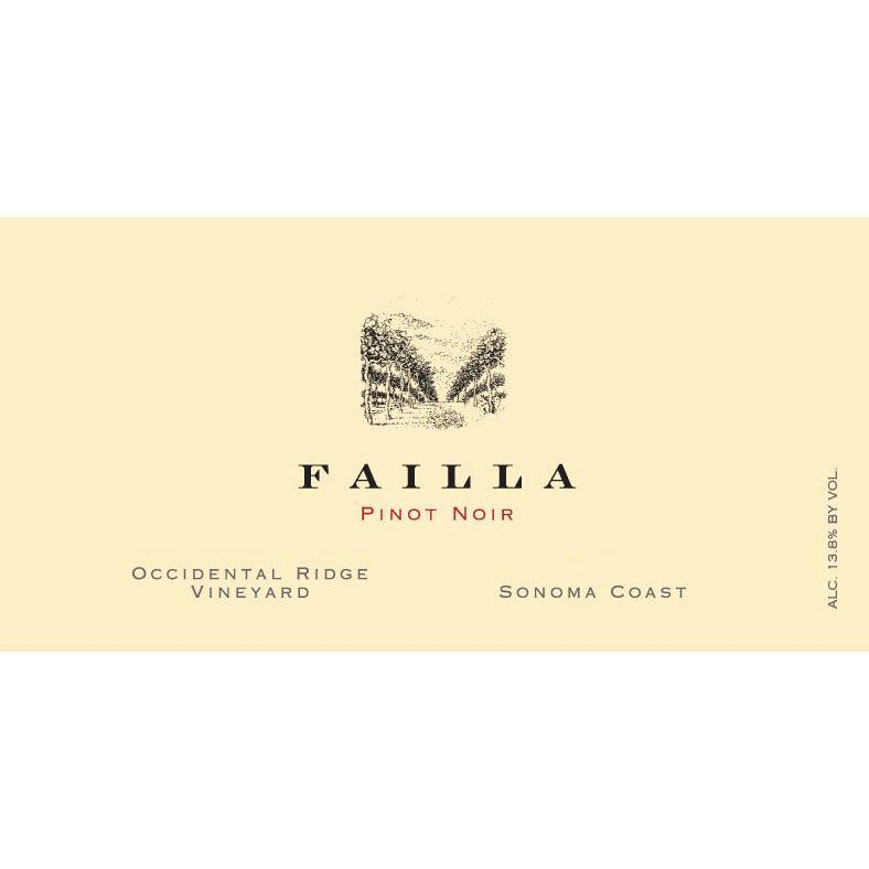 Failla Occidental Ridge Vineyard Pinot Noir 2017  Front Label