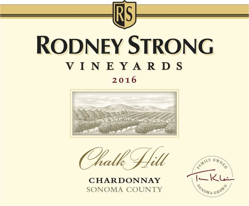 Rodney Strong Chalk Hill Chardonnay 2016 Front Label