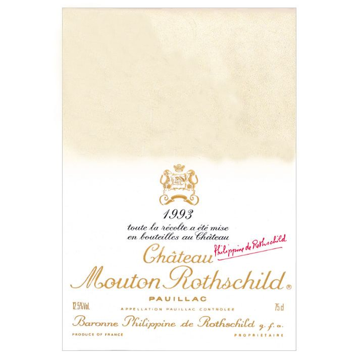 Chateau Mouton Rothschild (Balthus label) 1993  Front Label