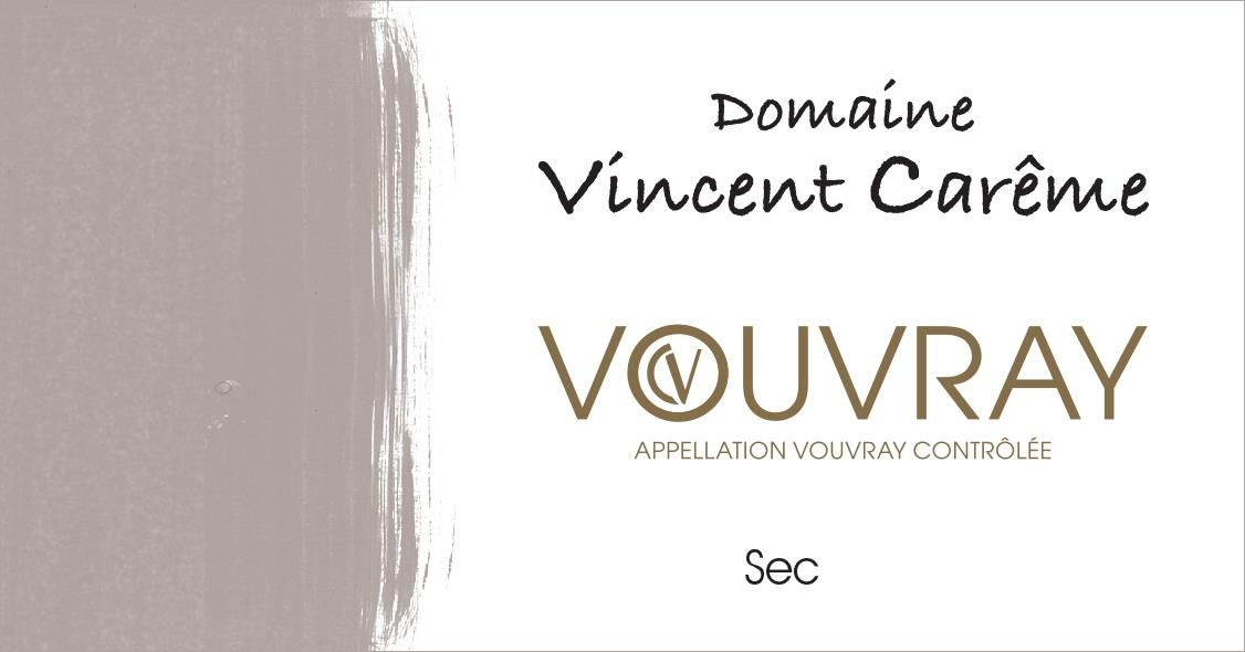 Domaine Vincent Careme Vouvray Sec 2018  Front Label