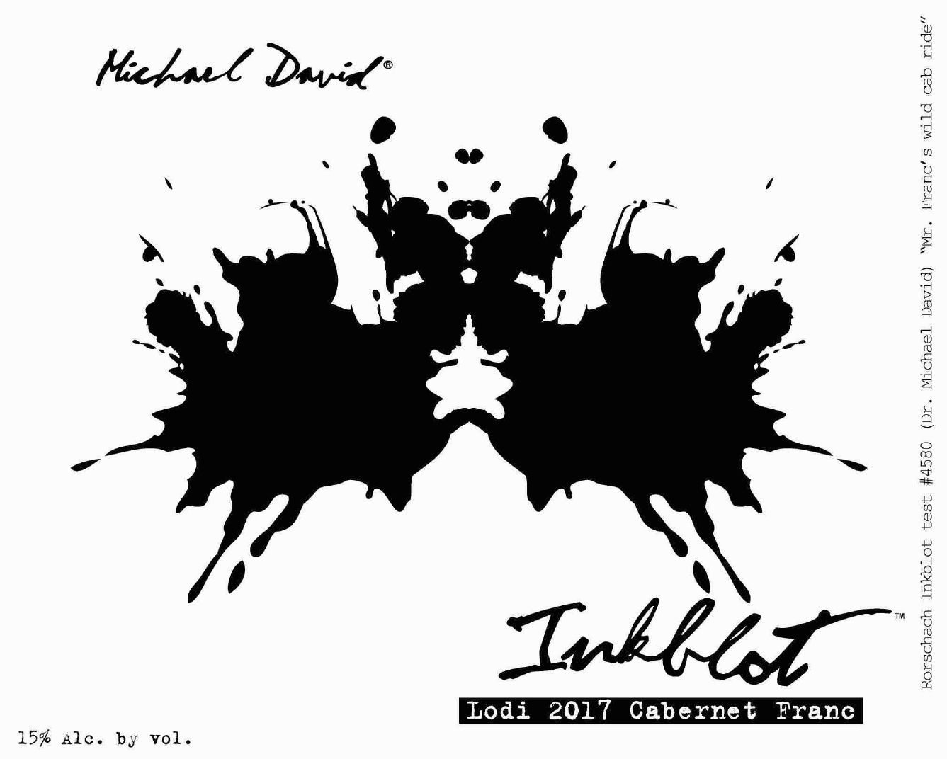 Michael David Winery Inkblot Cabernet Franc 2017  Front Label