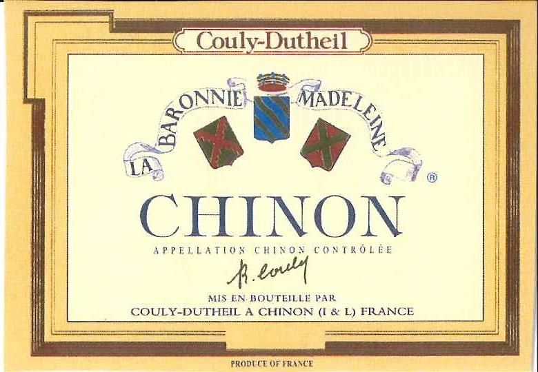 Couly-Dutheil Chinon Baronnie Madeleine 2015  Front Label