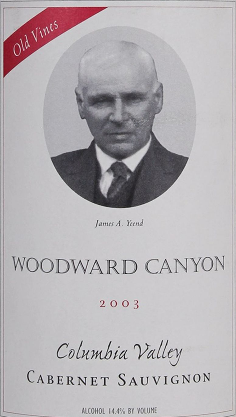 Woodward Canyon Old Vines Cabernet Sauvignon 2003  Front Label