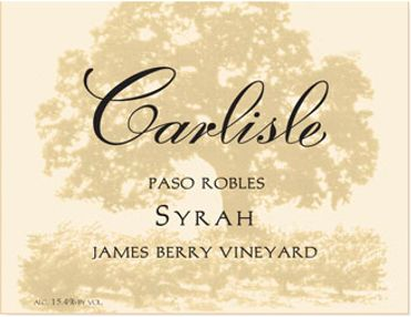Carlisle James Berry Syrah 2015 Front Label