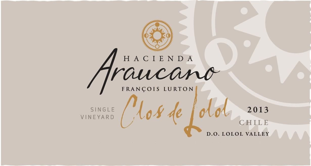 Hacienda Araucano Clos de Lolol Red 2013 Front Label