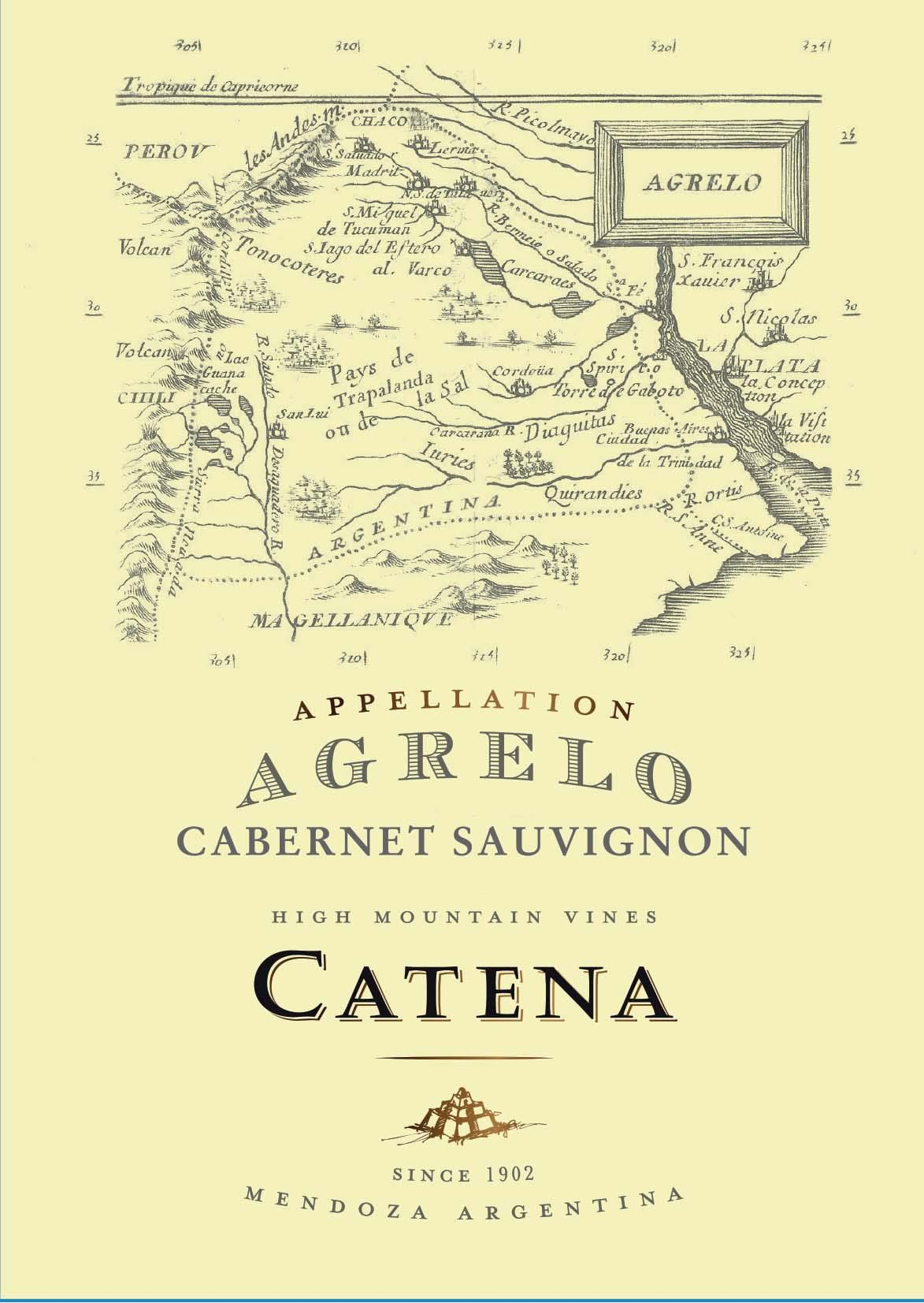Catena Appellation Agrelo Cabernet Sauvignon 2018  Front Label