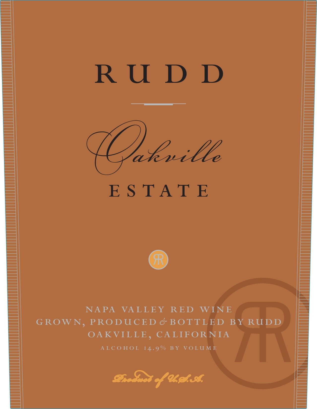 Rudd Oakville Estate Proprietary Red (1.5 Liter Magnum) 2004  Front Label