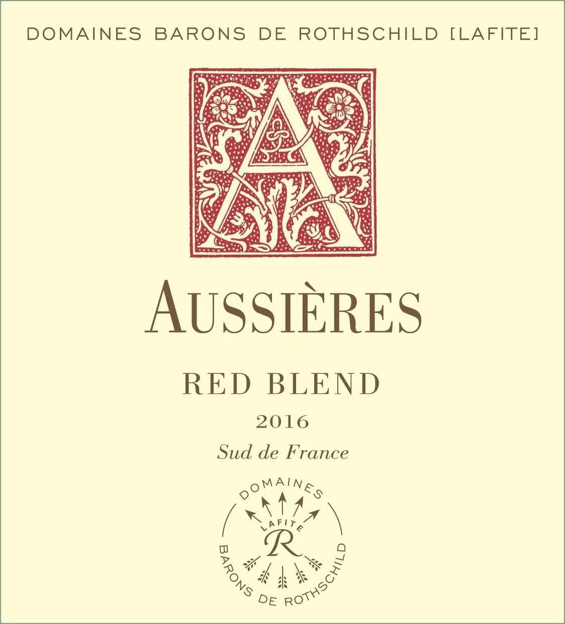 Chateau d'Aussieres Red Blend 2016  Front Label