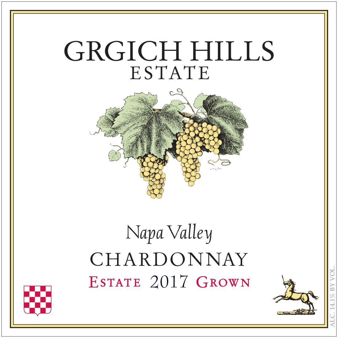 Grgich Hills Estate Chardonnay (375ML half-bottle) 2017 Front Label