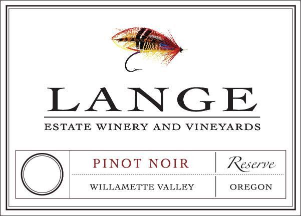 Lange Winery Reserve Pinot Noir 2015 Front Label
